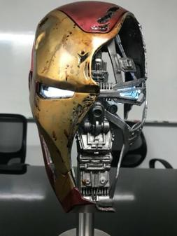 1/1 Marvel Avengers Endgame Iron Man Mark 50 Damaged Helmet