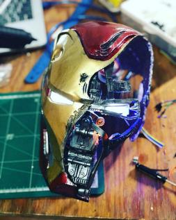 1:1 Scale Battle Damaged Mark50 Helmet iron man mark 50 Aven
