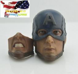 1/6 Iron man MK7 helmet head + 2pcs masks Tony Stark CGLT-07