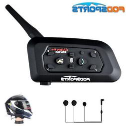 1200m 6 Riders BT Intercom Bluetooth Motorcycle Helmet Inter