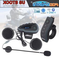 1000m V8 Bluetooth Motorcycle Helmet Intercom Interphone Hea