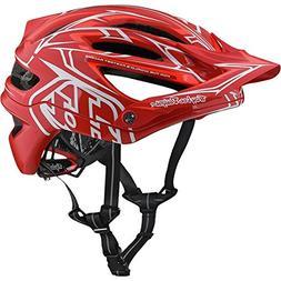 Troy Lee Designs 2018 A2 MIPS Pinstripe 2 Bicycle Helmet-Red