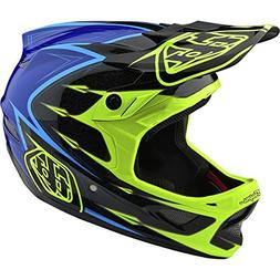 2018 Troy Lee Designs D3 Composite Corona Helmet-Yellow/Blue