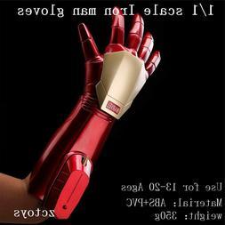2018 Marvel Iron Man Superhero Helmet +Glove Electric Glowin