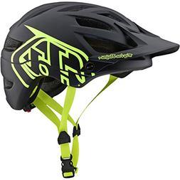 2019 Troy Lee Designs A1 Drone Helmet-Black/Flo Yellow-XS/S