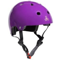 Triple Eight 3006 Dual Certified Helmet, X-Small/Small, Purp