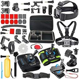 51 Items GoPro Accessories Kit For GoPro HERO session/5/4/3+