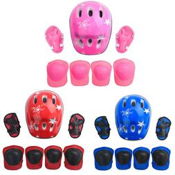 7Pcs Child Kid Helmet Knee Wrist Guard Elbow Pad Scooter Bic