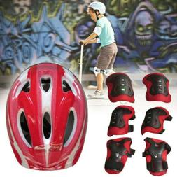 7pcs Kid Roller Skating Bike Riding Helmet Wrist Elbow Pad P