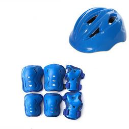 7pcs Kids Skating Protective Gear Sets Elbow Knee Pads Helme