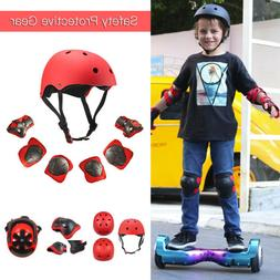 7Pcs Kids Sports Skating Protective Gear Set Safety Pad Helm