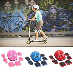7Pcs/Set Boys & Girls Kids Skate Cycling Bike Safety Helmet