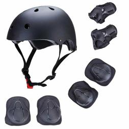 7Pcs Skateboard Helmet Elbow/Knee/Wrist Pad Combo Bmx Inline