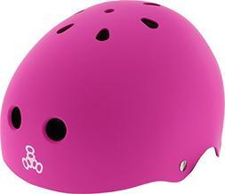 Triple 8 Lil 8 Pink Rubber Youth Skateboard Helmet - CE/CPSC