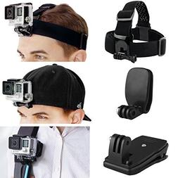 CamKix Head & Backpack Mount Bundle Compatible with GoPro He