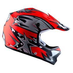 WOW Youth Kids Motocross BMX MX ATV Dirt Bike Helmet Star Ma
