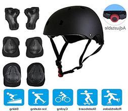 JIFAR Adjustable Helmet Protective Pads Knee Elbow Pads Wris