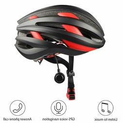 Adult Cycling Bluetooth Adjustable Smart Helmet with LED Tai