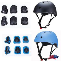 Adult Kids Skateboard Helmet Protective Gear Set Elbow/Knee/