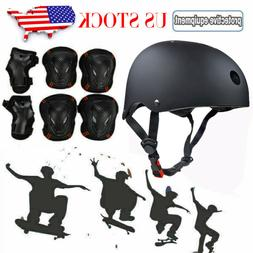 Adult Protective Gears Set Safety Helmet Knee Elbow Pads Wri