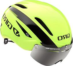 Giro Air Attack with Shield Highlight Yellow Black Size Medi