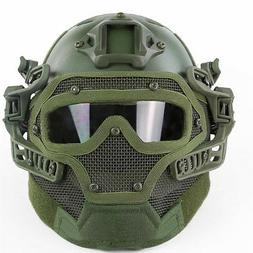 Airsoft Paintball Tactical Fast Helmet Goggles & G4 System G
