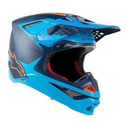 Alpine Stars Supertech S-m10 Meta MX Helmet Large Black Aqua