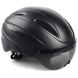 BASE CAMP Zoom/Zoom Aero Road Bike Helmet with Removable Vis