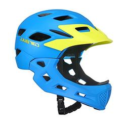 EDTara Kids Bicycle Helmet Full Face Helmet for Bike Motorcy