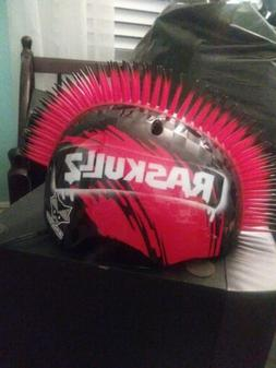 RASKULLZ Bicycle Mohawk Bike Helmet Youth Child Ages 5 up Bl