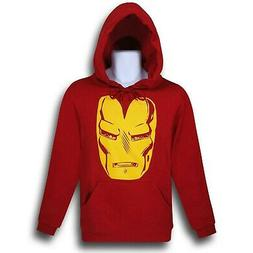 Iron Man Big Helmet Pullover Hoodie Red