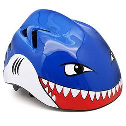 M Merkapa Kids Bike Helmet Adjustable 3D Shark Bicycle Helme