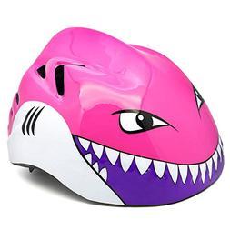 M Merkapa Kids Bike Helmet Adjustable 3D Shark Bicycle Helme
