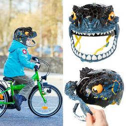 Raskullz Bike Helmet Kids 5-8 Dino T Rex Mask Bicycle Helmet