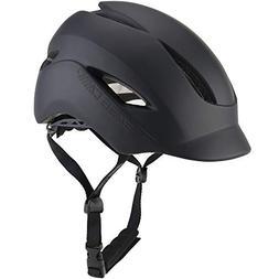 Base Camp Adult Bike Helmet with Rear Light for Urban Commut