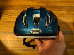 ProRider Bike Helmet Manuel & Foam Padding L/XL Blue & White