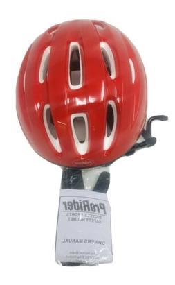 ProRider Bike Helmet Red White Size S/M NEW