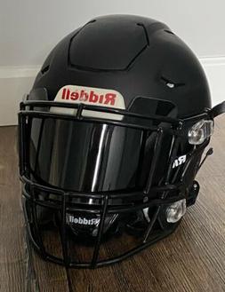 DISPLAY ONLY  - BLACK Football Helmet Visor Shield Full size