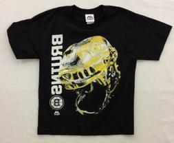 Majestic Boy's Boston Bruins Odd Man Rush Helmet Shirt, Blac