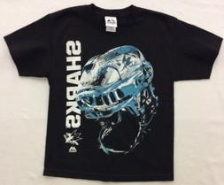 Majestic Boy's San Jose Sharks Odd Man Rush Helmet Shirt, Bl