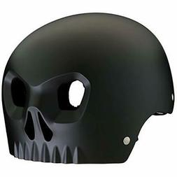 Mongoose Boy's Skull Black Helmet with Orange Inserts