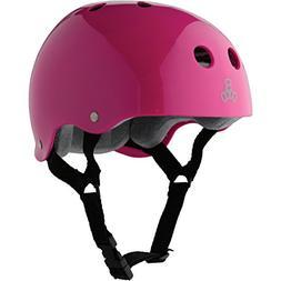 Triple Eight Helmet with Sweatsaver Liner, Pink Glossy, Larg