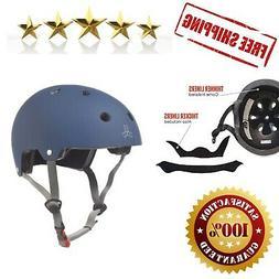 Triple Eight Brainsaver Rubber Helmet, Large/X-Large, Blue
