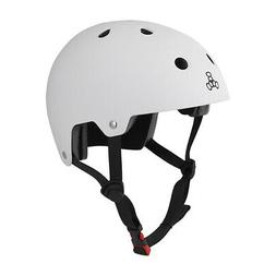Triple Eight Brainsaver Rubber Helmet, Small/Medium, White