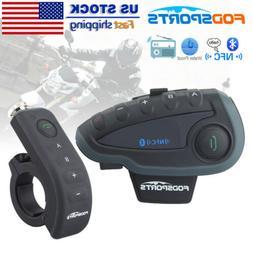 BT Motorcycle Communication System Helmet Interphone Wireles