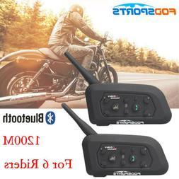 BT V6 1200M Bluetooth Motorcycle Helmet Interphone  Intercom