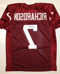 Bucky Richardson Autographed Maroon Jersey- JSA W Authentica