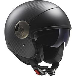 LS2 Helmets Cabrio Carbon Open Face Motorcycle Helmet with S