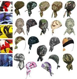 Camouflage Skull Cap Camo Doo Rag Bandana Headwrap Chemo Mot