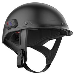 Sena Cavalry Half Bluetooth Helmets - Matte Black Large